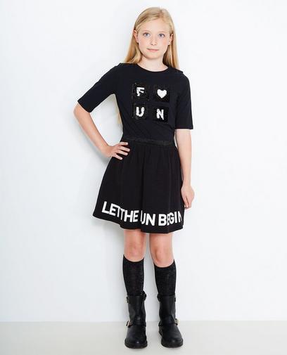 Schwarzes Swipe-T-Shirt